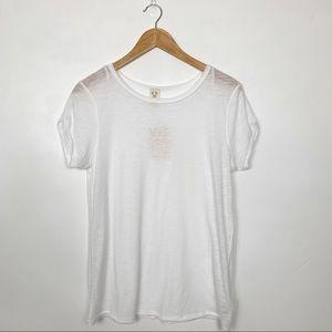 Free People White Short Sleeve Crewneck T-shirt 🆕